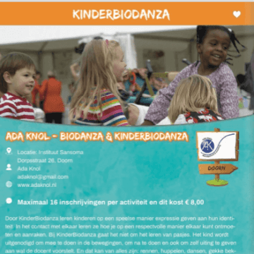KinderBiodanza groep 3 t/m 8